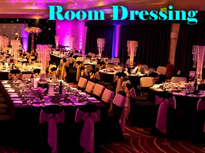 Room Dressing & Dance Floors - any size and colour | Steve Allen Entertainments